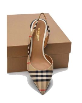 Burberry  Leticia Vintage Check Kitten Size 6.5