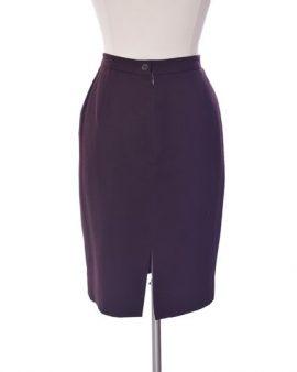 Burberry Pencil Burgundy  Knee Length Wool Skirt Size 6