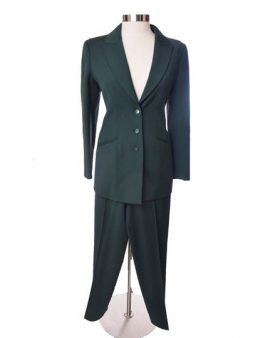 Claude Montana Vintage Green Pants Suit Size 42 / US 8