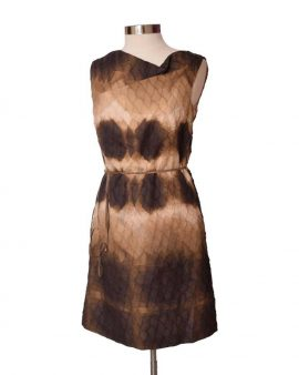 Escada Vintage Brown Sleeveless Dress Size 38 US 8