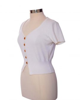 Yves Saint Laurent  White Cotton Shrug Size 44  US 12