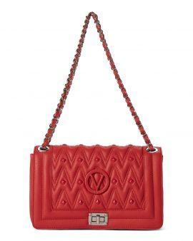 Valentino Red Alice Studded Leather Shoulder Bag