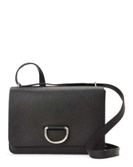 Burberry Black D-Ring Medium Leather Crossbody Bag
