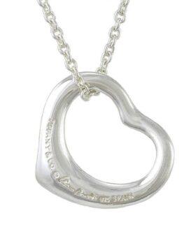 Tiffany & Co Open heart Pendant Necklace 16″