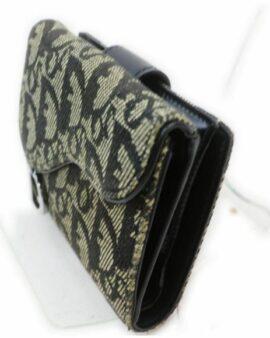 Christian Dior Black Canvas Wallet 1708344