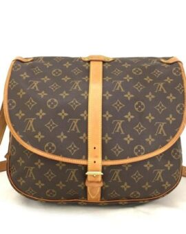 Authentic Brown Louis Vuitton Saumur 35 Crossbody Shoulder Bag