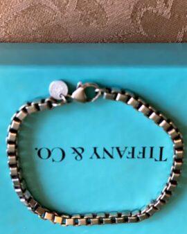 Bracelet Sterling Sliver 925 Venetian Link Sz 7.5″