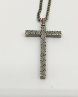 Authentic Gucci Cross Necklace Sterling Silver 925 1709905