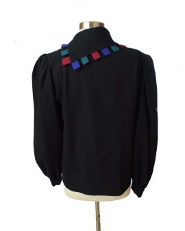Chaock Black Long Sleeves Top Size Small