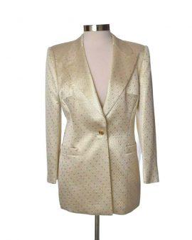 Escada Gold Long Sleeves Evening Jacket Size 42 US 12