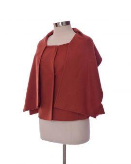 Oscar De La Renta Brown Cashmere Jacket Size 4 Petite