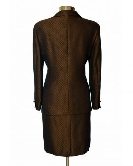 Escada  Vintage Brown Long Sleeves Skirt Suit Size 42 US 12