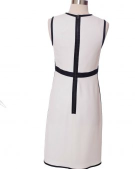 LIda Baday Ivory Sleeveless Knee Length Cocktail Dress Size 4