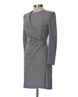 Emanuel Ungaro Gray Vintage Long Sleeves Dress Size 8