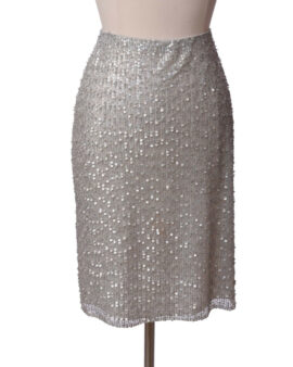 Badgley Mischka Sequin Sliver Cocktail Skirt Size 8