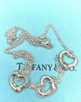 Sterling Sliver Triple Open Heart Necklace 16″