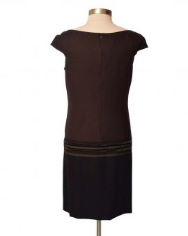 Escada New Brown Shift Dress Knee Length Size 40 US 10