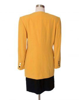 Escada Vintage Yellow Long Sleeves Wool Jacket Size 38