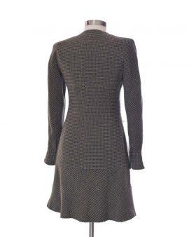 Chanel CC Tweed Long Sleeves Wool Dress Size 42 US 10