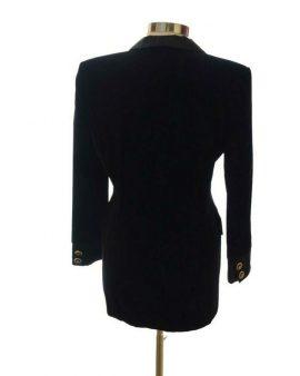 Escada Vintage Black Velvet Blazer Size 40 US 10