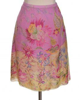Oscar De La Renta Floral Pink Skirt Size 2