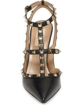 Valentino New Black  Garavani Rockstud T-Strap Pump Size 7